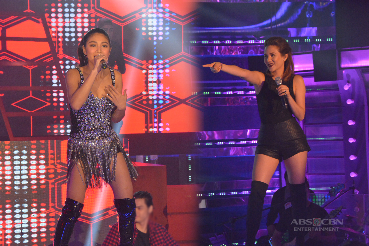 #TNT2Q1SemifinaLs PHOTOS: Nadine & Karylle heat up It's Showtime stage with their sizzling hot opening prod