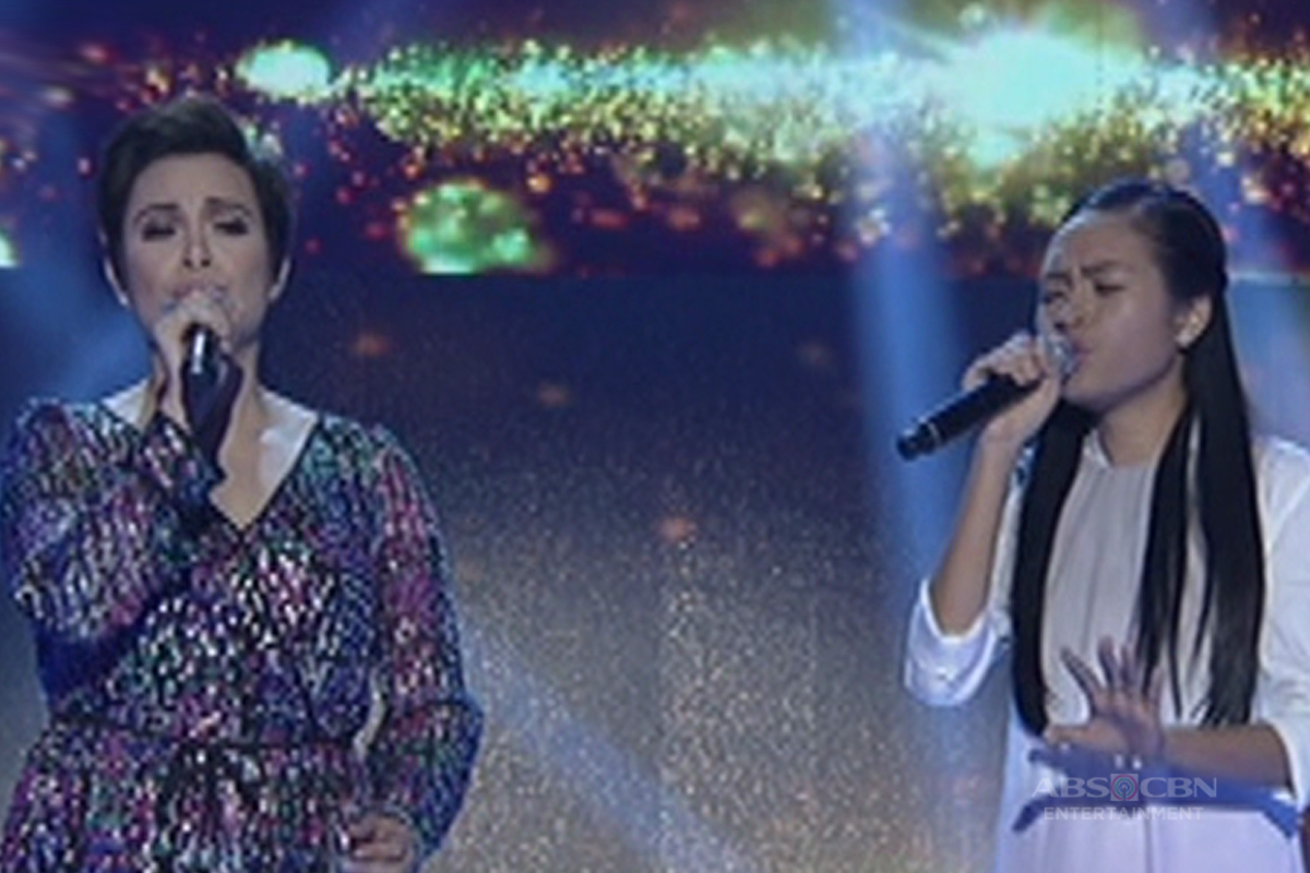 Coach Lea's duet with her grand finalist Mica on It's Showtime