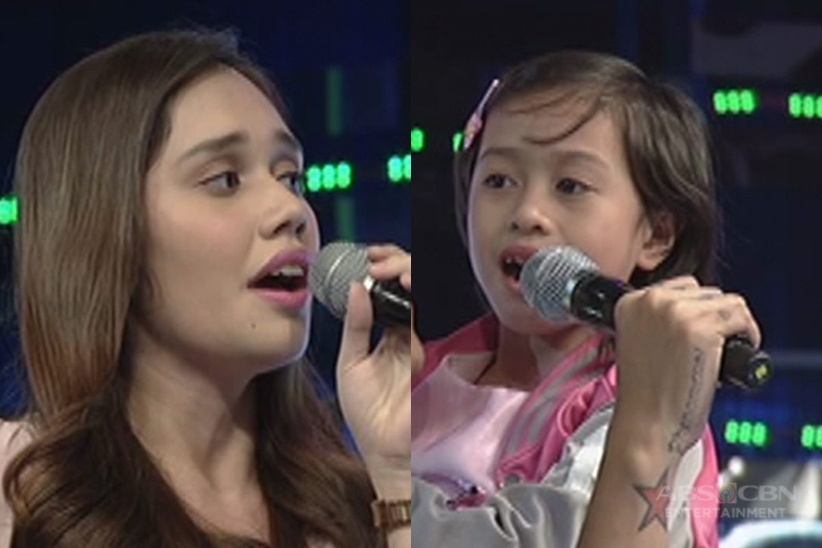 Daily contender Patricia's cute moment with her baby sister in It's Showtime