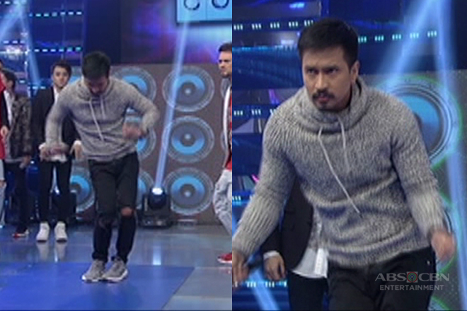 RK aka Arnaldo of Wildflower shows off dance moves in