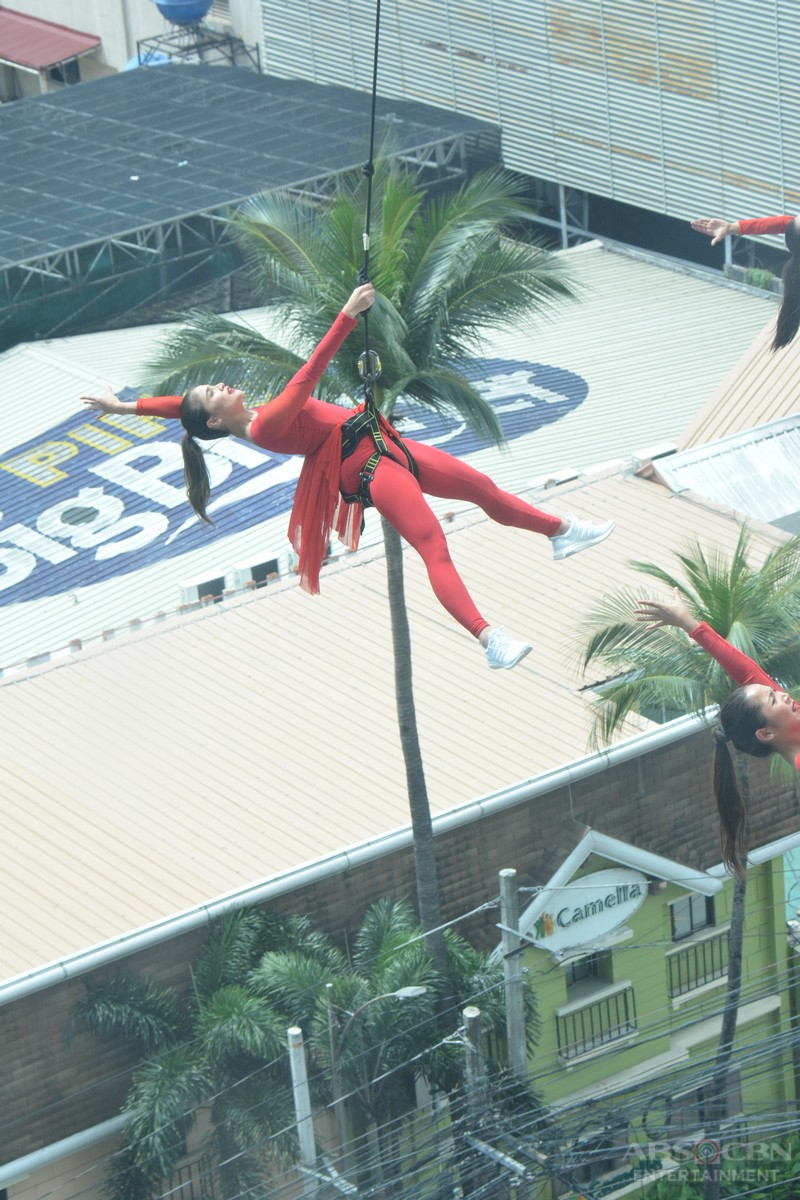 BEHIND-THE-SCENES: Anne Curtis' death-defying stunt w/ the GirlTrends for Magpasikat