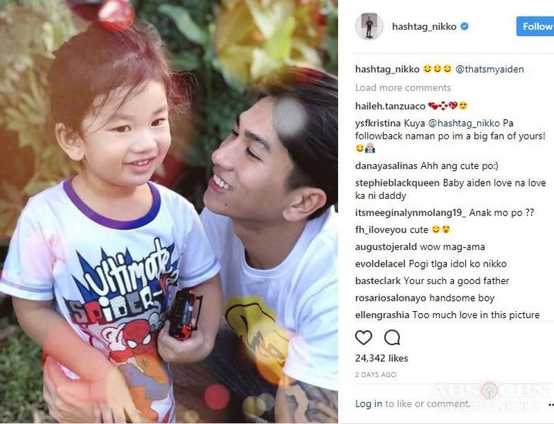LOOK! Mga larawan nina Hashtag Nikko at baby Aiden na magpapatunaw sa inyong mga puso