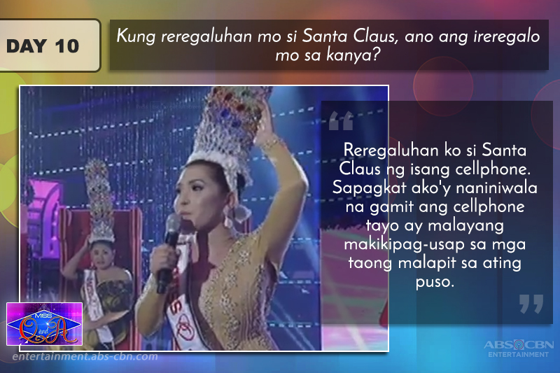 The winning answers of Ms Q & A Hall Of Famer Rianne Azares