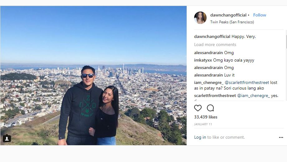 SPOTTED! Dawn Chang with her significant other Justin Cuyugan