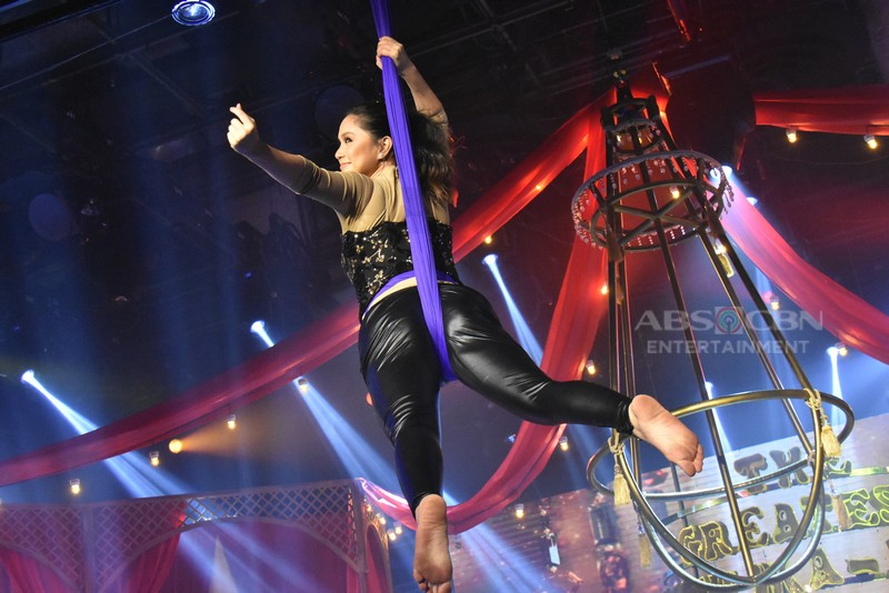 LOOK: Team Anne and Mariel thrills with impressive acrobatic, death-defying, aerial show for Magpasikat 2018