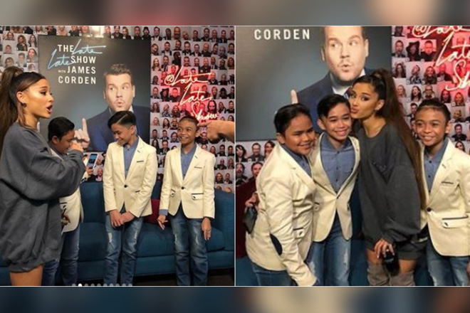 IN PHOTOS: WOW! Off-cam moments of TNT Boys with Ariana Grande