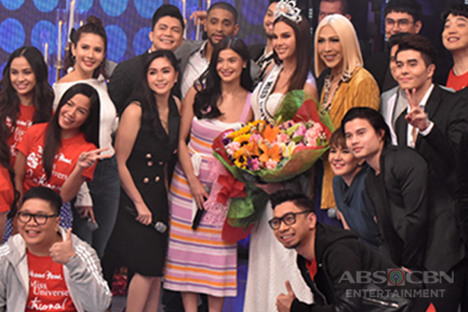 PHOTOS: Grand welcome for Miss Universe 2018 Catriona Gray on It's Showtime