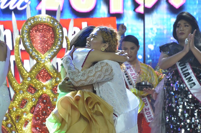 CROWNING MOMENTS: Mitch Montecarlo Suansane is Miss Q & A Intertalaktic 2019 Grand Winner
