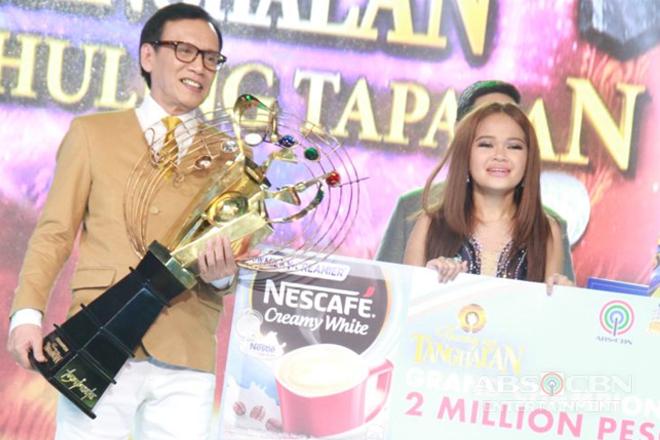 """Janine ng Cebu, wagi bilang pinakabagong """"Tawag ng Tanghalan"""" grand champion"""