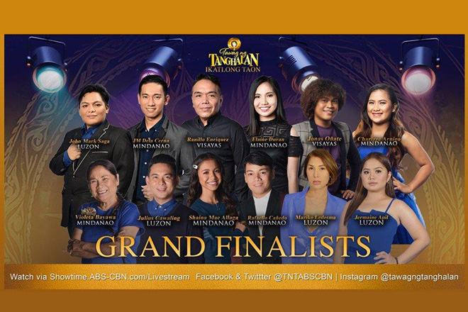 """Tawag ng Tanghalan"" Grand Finalists to be completed this week"