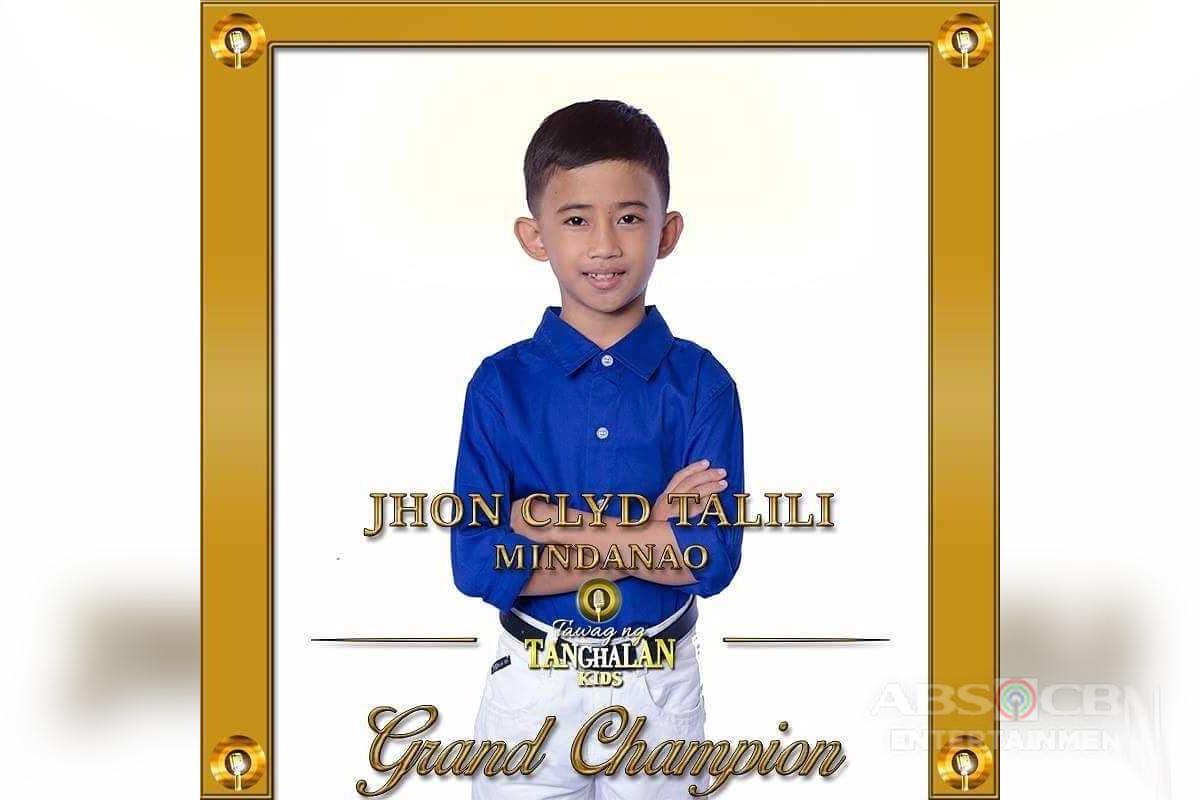 """Jhon Clyd Talili of Mindanao named """"Tawag Ng Tanghalan Kids"""" Grand Champion"""