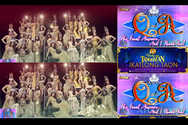 "Back-to-back battles with ""Miss Q and A"" and ""Tawag Ng Tanghalan"" on ""It's Showtime"""