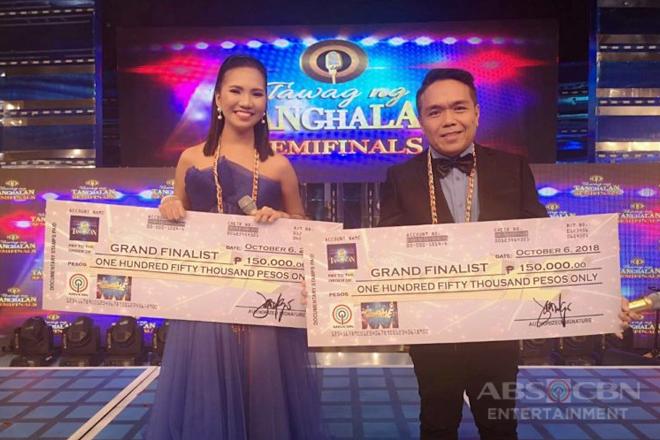 Elaine at Ranillo, tuloy ang laban sa grand finals ng Tawag ng Tanghalan