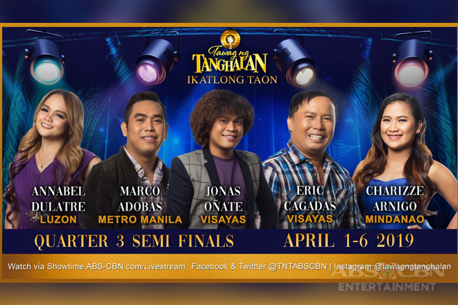 "Battle of band vocalists in ""Tawag ng Tanghalan"" semifinals"