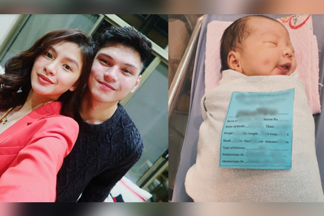 LOOK: Former girltrend Kamille's new born baby boy!