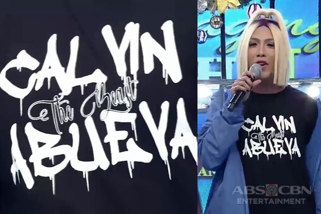 Vice Ganda proudly wears Calvin Abueva's shirt on It's Showtime