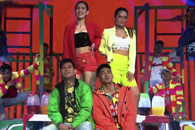 WATCH: Jackie, Stephen, Ion at Zeus, bigay-todo sa paghataw sa It's Showtime dance floor!